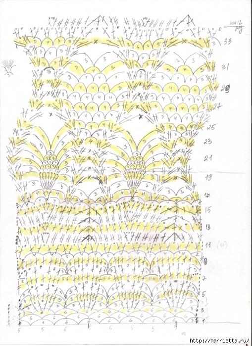 Белое платье ПАРАД УЗОРОВ КРЮЧКОМ. Схемы (3) (509x700, 313Kb)