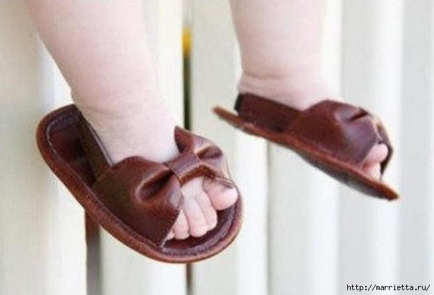 как сшить детские сандалии из кожи (1) (625x424, 103Kb)