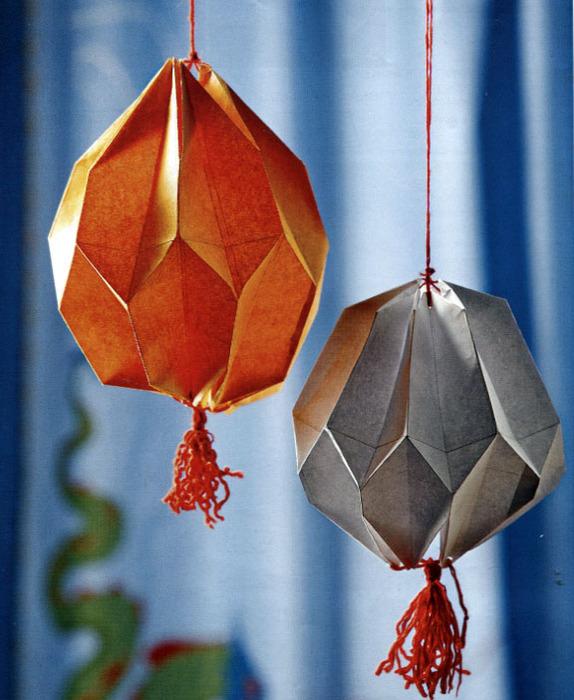 Китайский фонарик из бумаги своими руками на новый год
