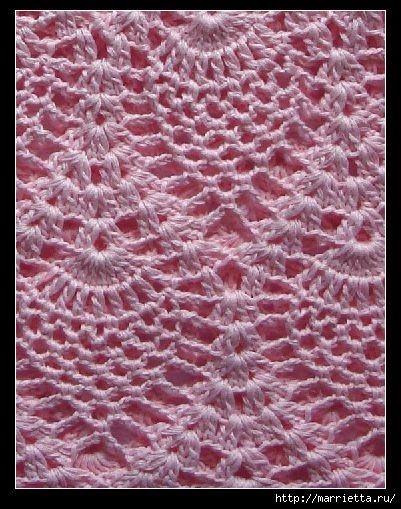Вязание крючком. Розовый сарафан и платьице для девочки (3) (401x509, 171Kb)