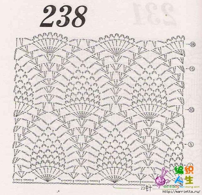 Вязание крючком. Розовый сарафан и платьице для девочки (6) (644x623, 315Kb)