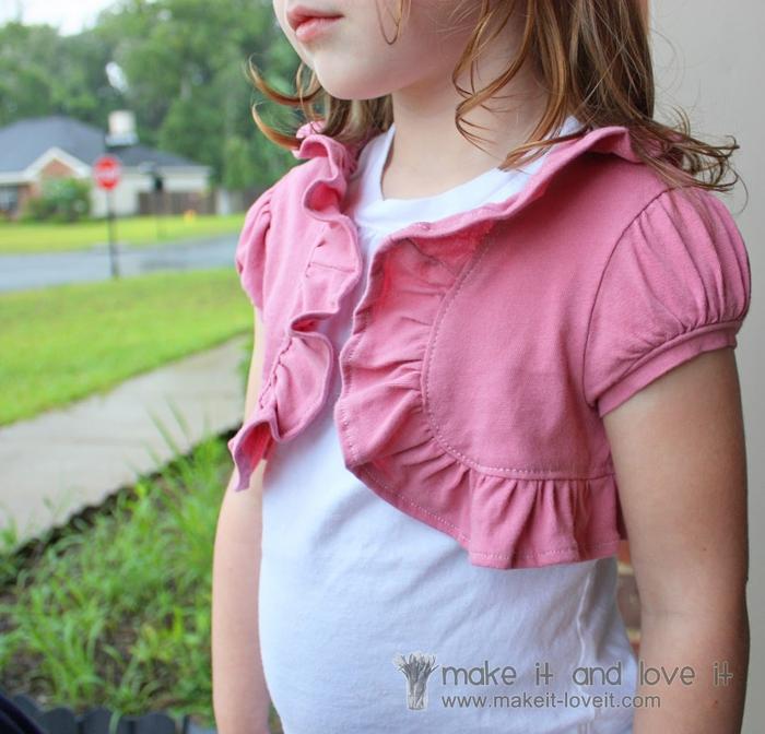 болеро для девочки из футболки (1) (700x672, 315Kb)