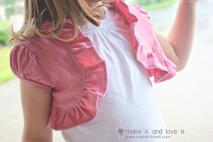 болеро для девочки из футболки (2) (700x466, 189Kb)