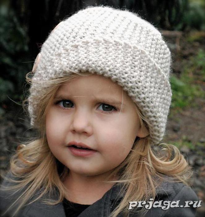 вязание шапки детской вязание