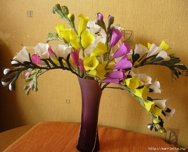 как сделать цветы фрезии и астры из бумаги (1) (600x487, 169Kb)