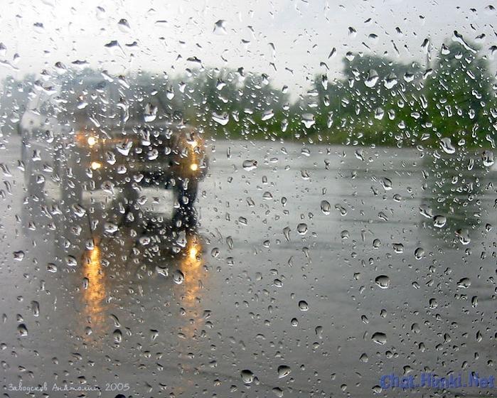 Как сделать дождь по стеклу