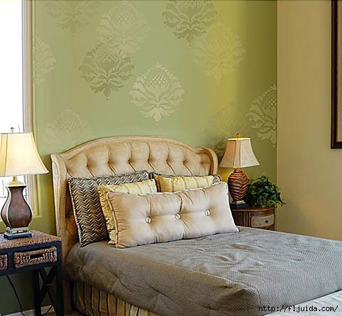Damask-stencil-bedroom (490x452, 126Kb)