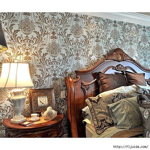 Damask-stenciled-bedroom (490x490, 233Kb)