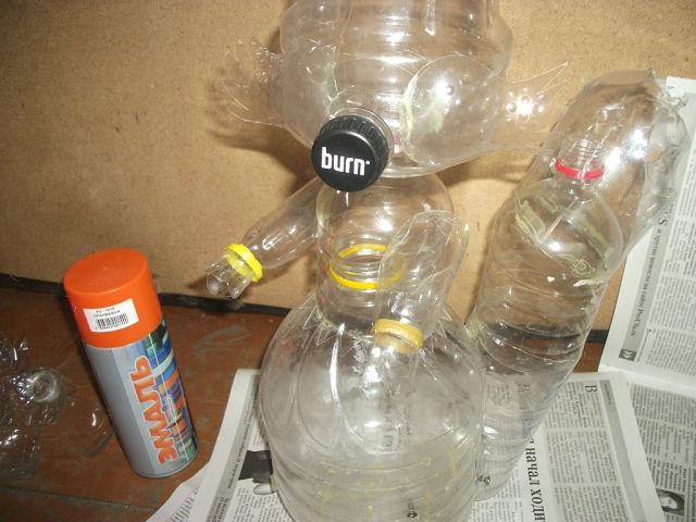 Фигурки из пластиковых бутылок своими руками пошаговая инструкция