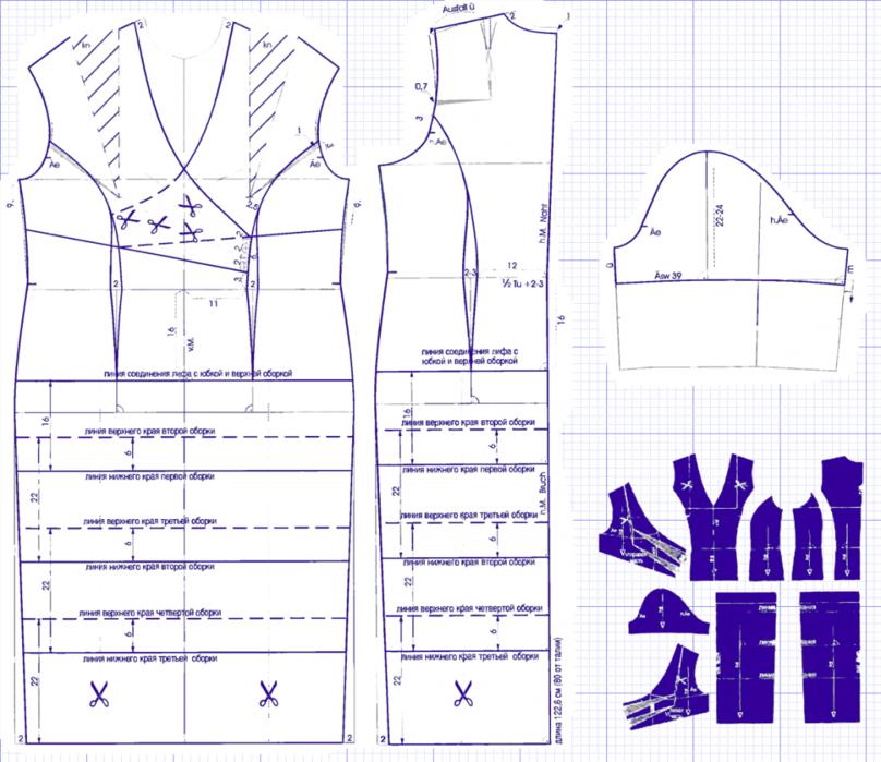Выкройка прямого трикотажного платья 5