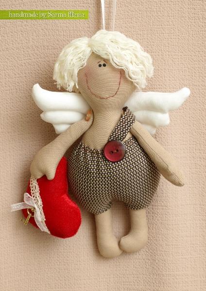 Мастер-класс по пошиву ангелочков - валентинчиков
