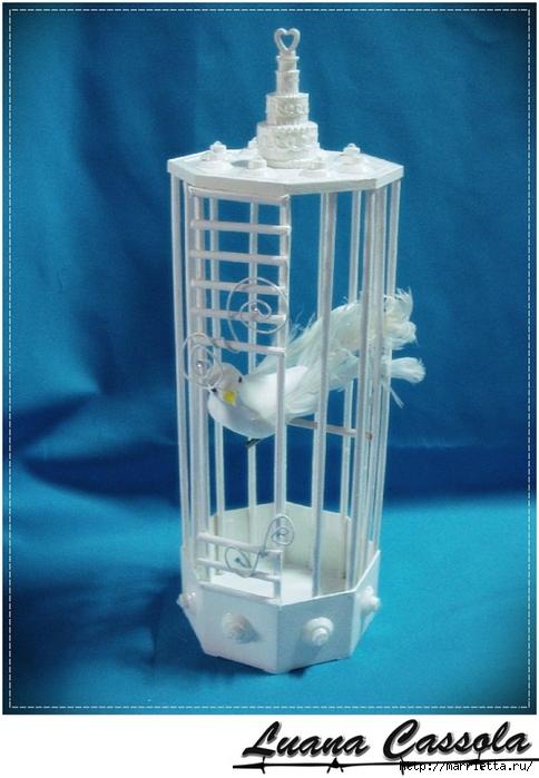 Декоративная птичья клетка из шашлычных палочек и крышек от конфетных коробок (10) (484x700, 249Kb)