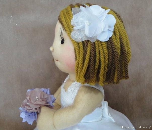 Замечательные куколки из капрона. Идеи и выкройки (13) (605x517, 148Kb)