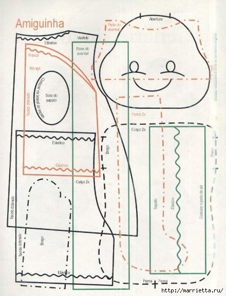 сшить куклу. журнал с выкройками (38) (440x577, 160Kb)