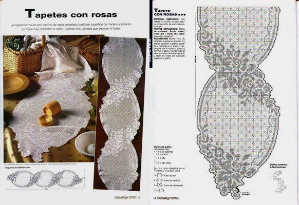 салфетки.филейное вязание крючком и схемы