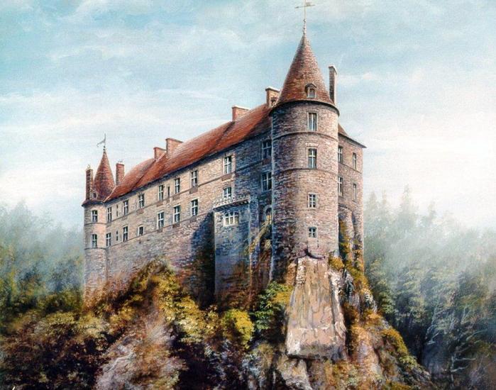 замок Лавут-Полиньяк, Франция (700x550, 452Kb)