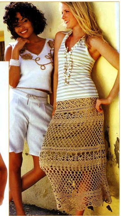Летняя ажурная юбка