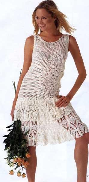 летнее платье крючком - схема