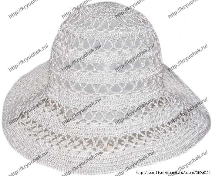 крючком летней шляпы.