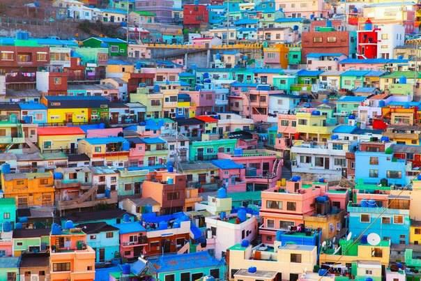 Камчон, небольшой городок под южным портовым городом Пусан, Южная Корея (604x403, 377Kb)