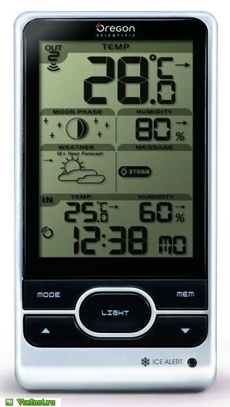 Погодная станция Oregon Scientific BAR208HG с термометром и гигрометром (333x588, 70Kb)