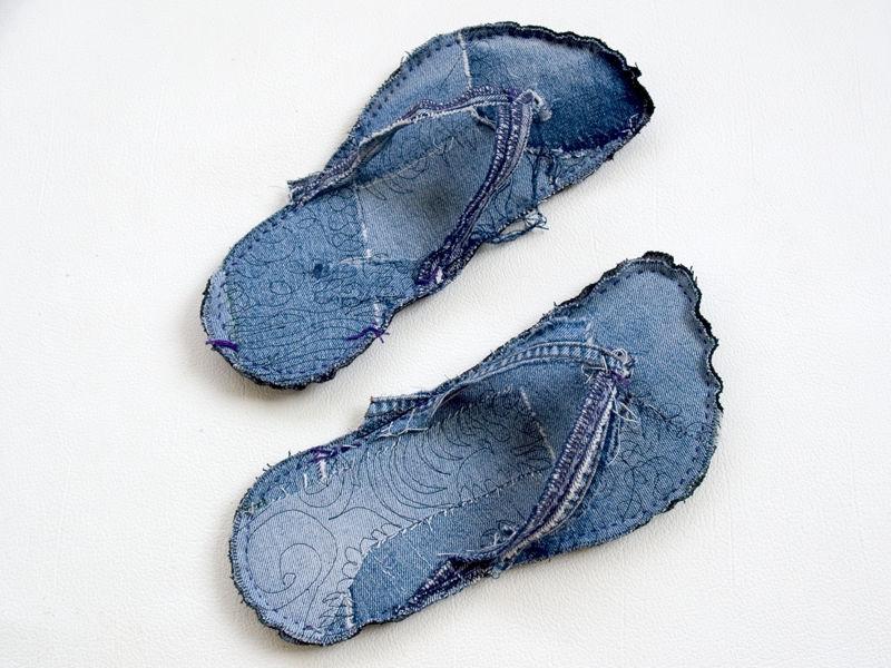 Тапки из джинса своими руками 61