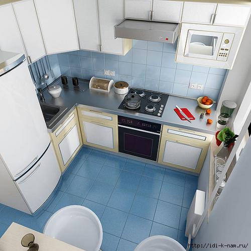 Дизайн маленькой кухни, синяя кухня, кухня в хрущовке,/1374801131_731607291217281 (500x500, 106Kb)