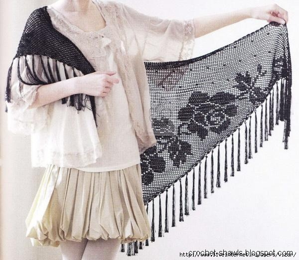 6 Filet crochet Shawl (2) (600x522, 186Kb)