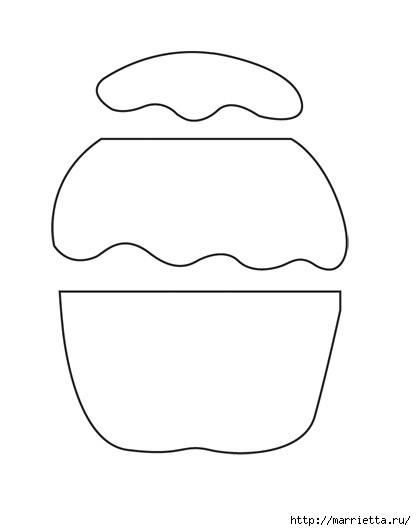 Простенькая аппликация кекса для украшения одежды новорожденного (2) (416x531, 27Kb)