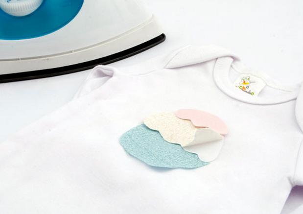 Простенькая аппликация кекса для украшения одежды новорожденного (5) (619x437, 309Kb)