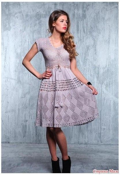 Вязаные платья самое интересное в блогах