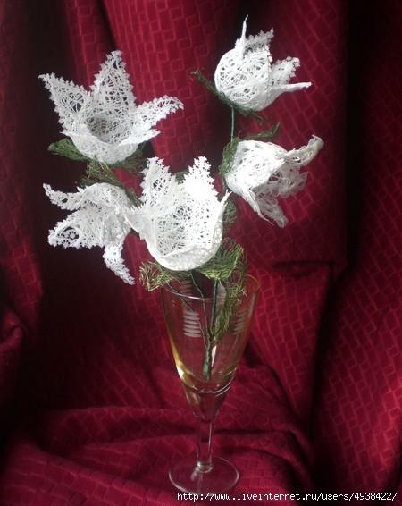 Как сделать цветы из ниток Клуб рукоделия