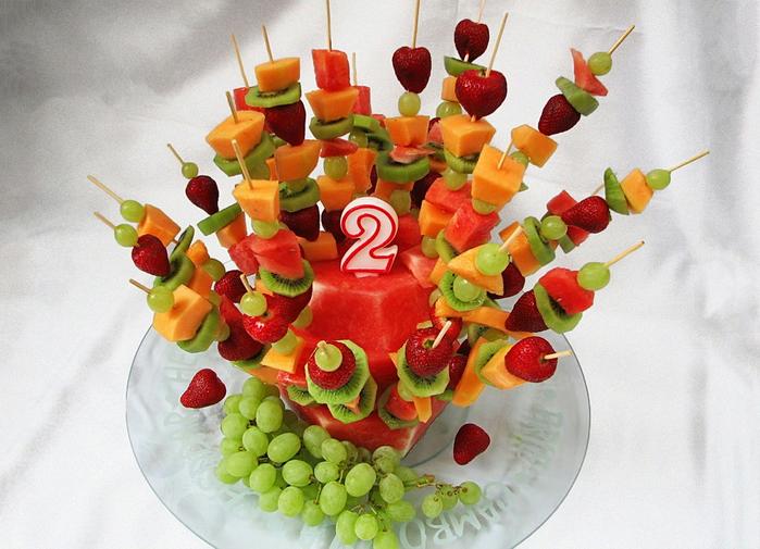 Украшения стола на день рождения