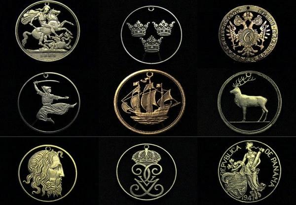 кулоны из монет фото (600x415, 153Kb)