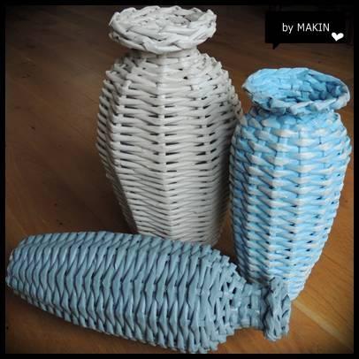 Плетение из газет. Стильные работы от Makin (5) (406x406, 87Kb)
