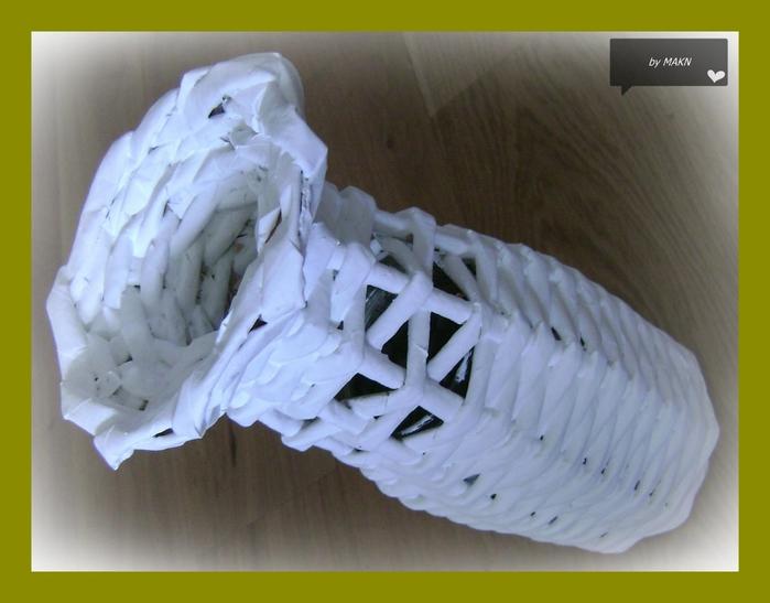 Плетение из газет. Стильные работы от Makin (12) (700x547, 202Kb)