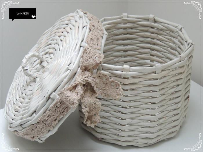 Плетение из газет. Стильные работы от Makin (42) (700x525, 249Kb)