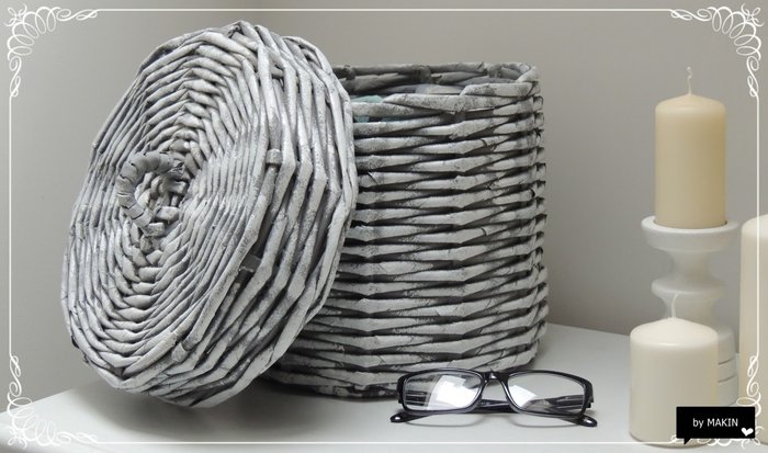 Плетение из газет. Стильные работы от Makin (61) (700x413, 192Kb)