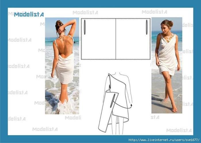 Пляжное платье сшить быстро и просто 569