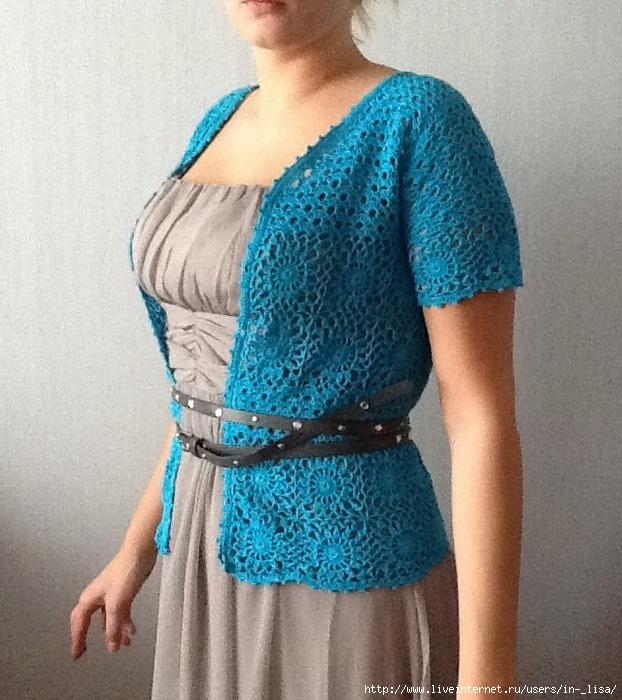 Блузка Связанная Из Ниток Пехорки