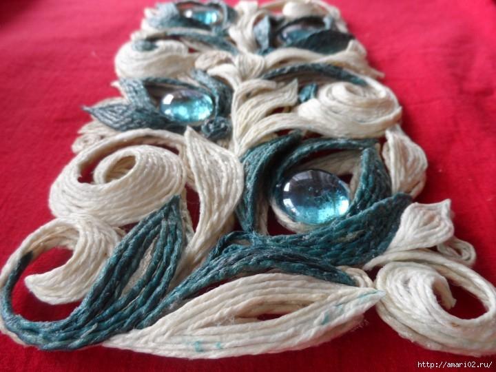 黄麻绳的魅力 5 :金丝绣花灯罩(大师班) - maomao - 我随心动