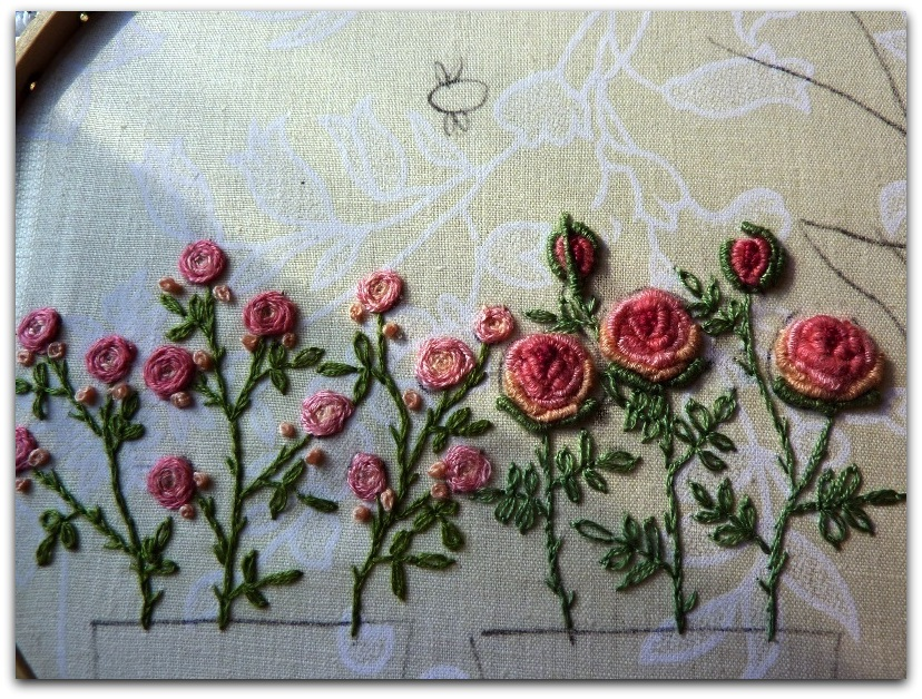 Вышивки навивкой рококо