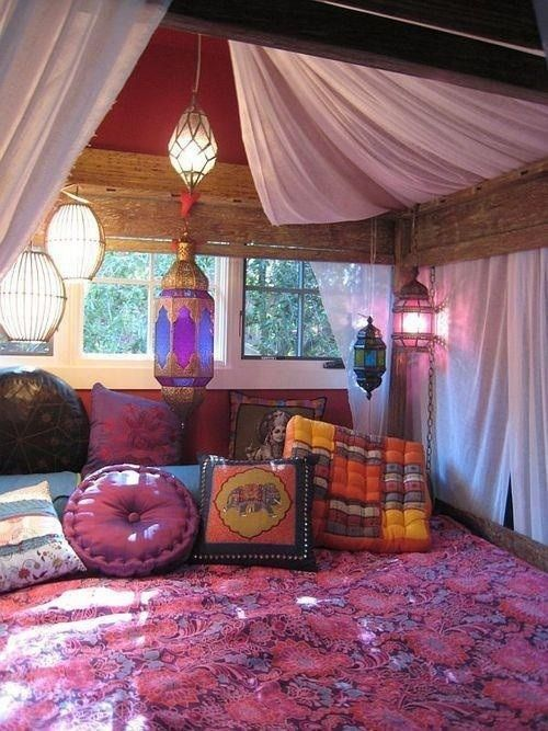 Hippie teenage bedroom ideas