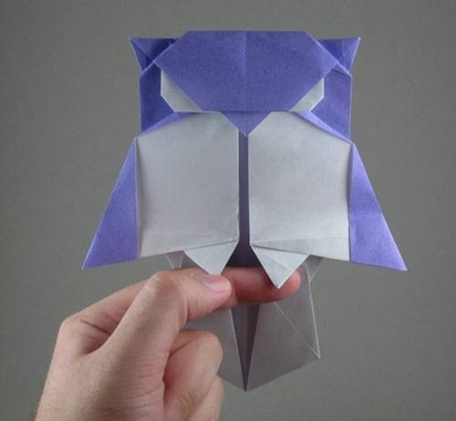 Скачать модульное оригами сова на травке схема бесплатно, без.