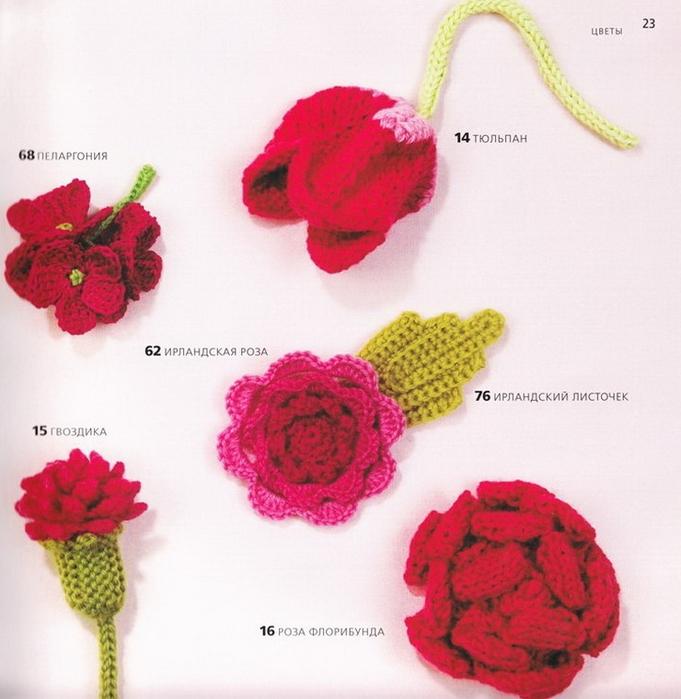 100 вязаных цветов спицами и крючком (20) (681x700, 260Kb)