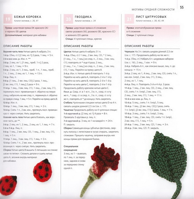 100 вязаных цветов спицами и крючком (52) (681x700, 279Kb)