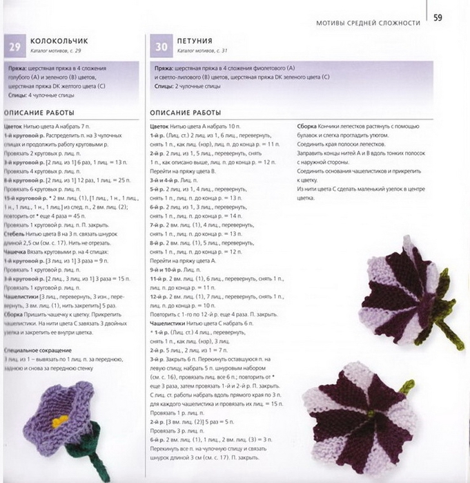 100 вязаных цветов спицами и крючком (56) (681x700, 270Kb)