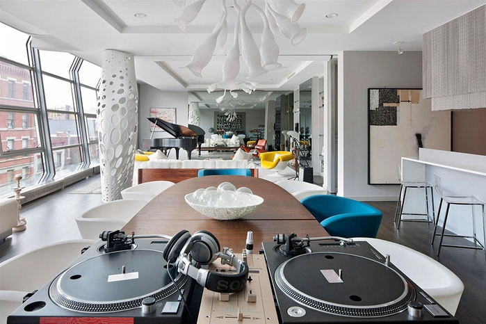 стильный дизайн интерьера большой квартиры 1 (700x466, 241Kb)