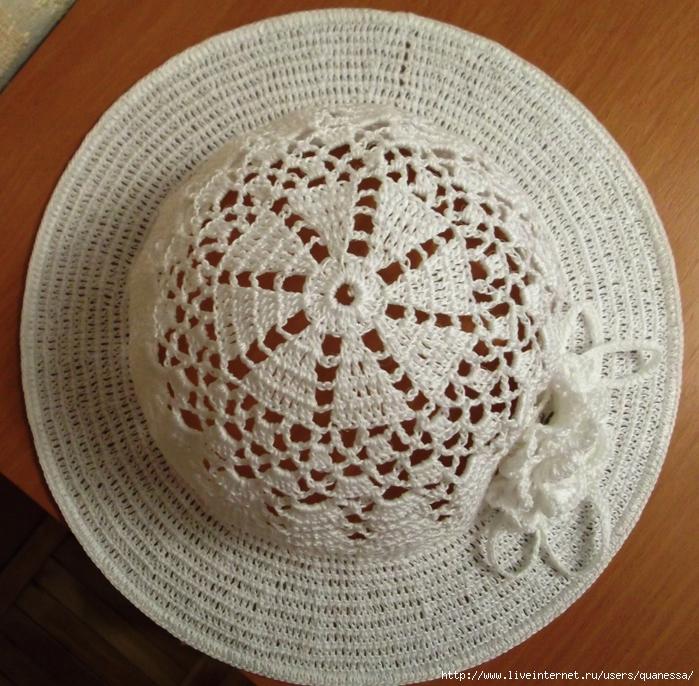 钩针凉帽(7) - 荷塘秀色 - 茶之韵
