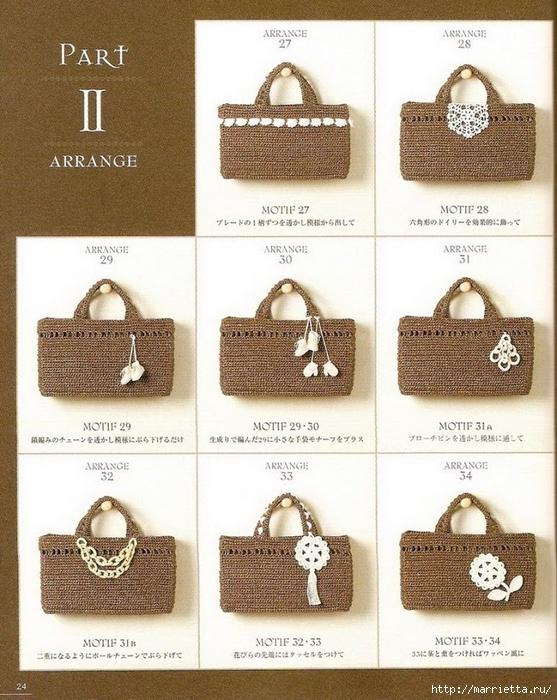 Сумки из пластиковых пакетов и украшения для сумок крючком (25) (557x700, 323Kb)